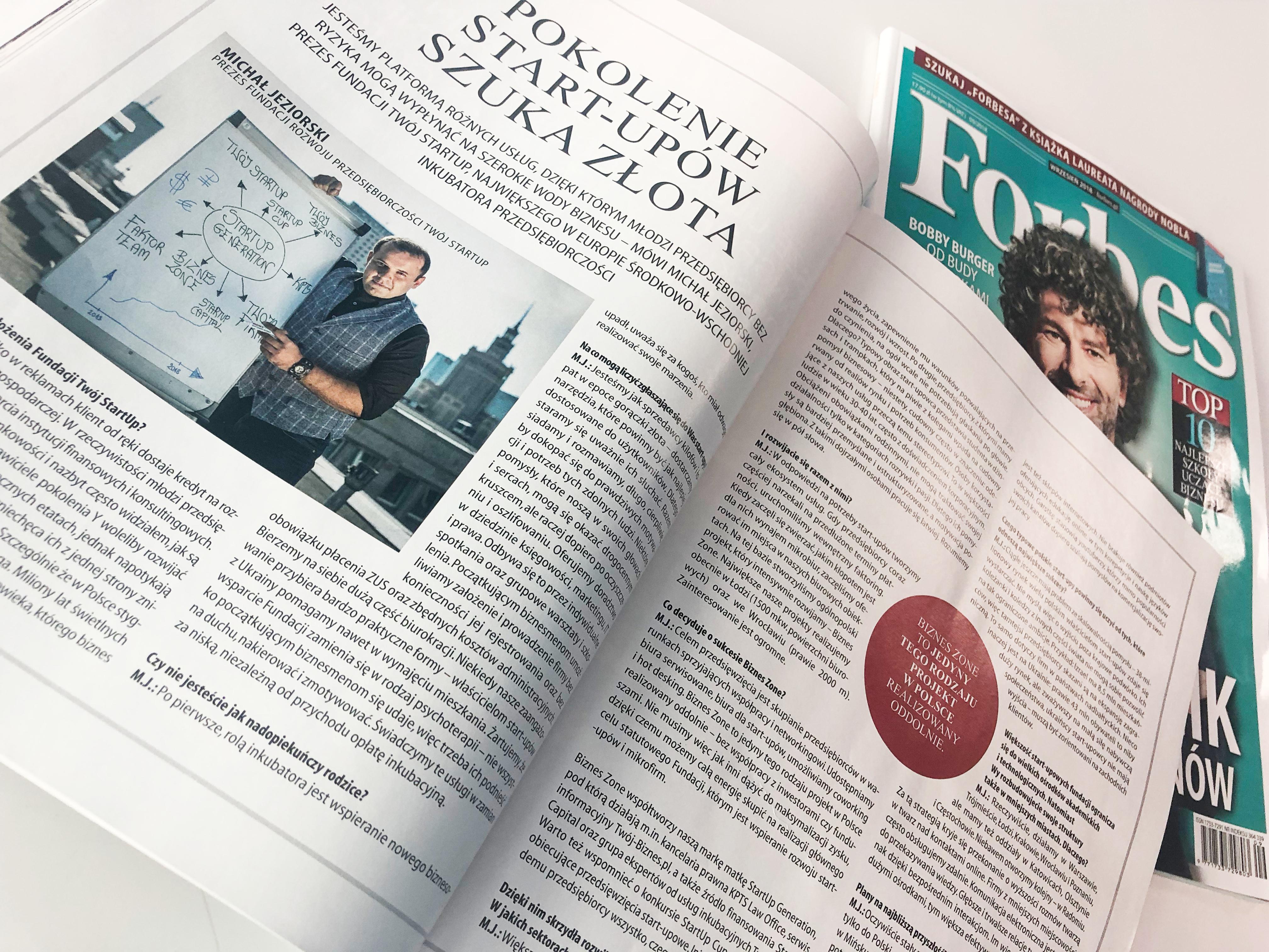 Michał Jeziorski - wywiad Forbes
